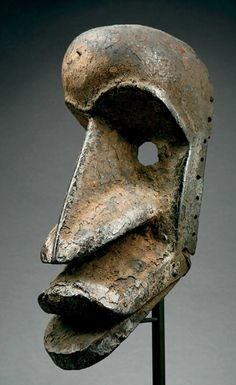 Mask from the Kran people of Liberia | Wood, metal . Africa .