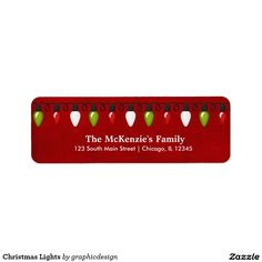 Sold. #Christmas Lights #Label Available in different products. Check more at www.zazzle.com/graphicdesign