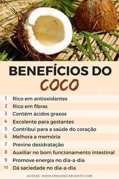 Dieta Online, Dieta Flexible, Coconut Benefits, Diets That Work, Natural Detox, Atkins, Diet Tips, Healthy Tips, Health And Wellness
