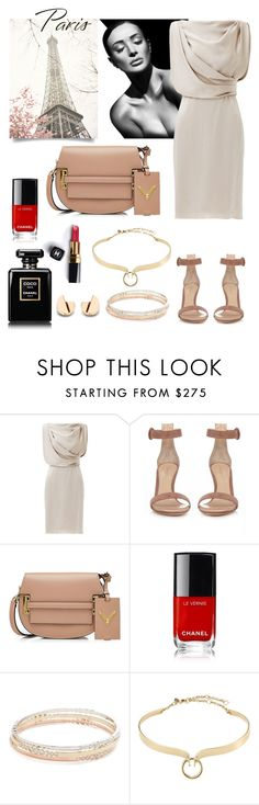"""""""paris"""" by anisamhussainxx ❤ liked on Polyvore featuring Jason Wu, Gianvito Rossi, Valentino, Chanel, Kate Spade and Alexis Bittar"""