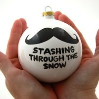Christmas Ornament Stashing Through The Snow Ceramic Ball with Mustache Moustache Funny from LennyMud on Etsy. Saved to i mustache you a questio. Merry Christmas, Diy Christmas Gifts, All Things Christmas, Winter Christmas, Holiday Crafts, Holiday Fun, Christmas Holidays, Christmas Decorations, Christmas Ornaments