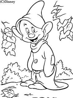 coloriage enfants images blanche neige le nain simplet gif