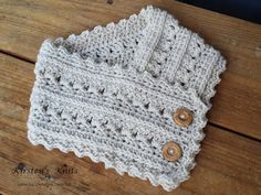 Lace, and warmth combined make this crochet cowl a great winter accessory! Who says you can't look dainty in winter? This easy pattern works up quickly.