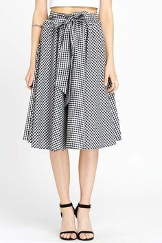 Picnic Chic Gingham Circle Midi Skirt