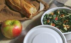 Kale, Apple, almond salad