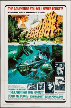 The Land That Time Forgot - movie poster - Fine (7.0) Childhood movie