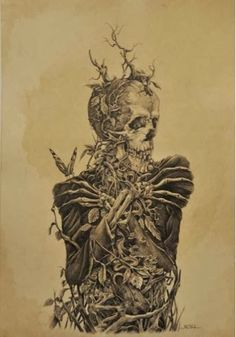 death and decay tattoos | Skeletal Art on Pinterest | Skeletons, Skull and Bones