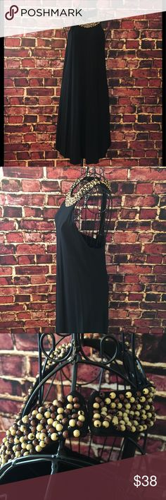 """🆕Listing! INC International Concept halter dress Fun and flirty black halter dress with bead detail by INC. This dress is super cute and would be a perfect option for day or night. Three hook side neck closure. Rayon/Spandex blend. Nylon lining. Length measures 25"""" armpit to hem. No loose or missing beads. Excellent condition. INC International Concepts Dresses Mini"""