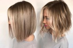 Straight vs Wavy Was ist dein Favorit? Straight vs Wavy Was ist dein Favorit? The post Straight vs Wavy Was ist dein Favorit? Cheveux Beiges, Medium Hair Styles, Curly Hair Styles, Short Textured Hair, Short Light Brown Hair, Short Wavy, Textured Lob, Short Ombre, Short Hair Cuts