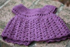 purple crochet baby dress