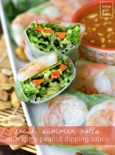 ... with spicy peanut dipping sauce fresh summer rolls with spicy peanut