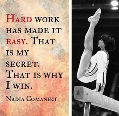 Hard work has made it easy.