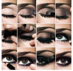 The ultimate black smokey eye