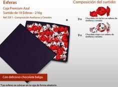 ¿Has visto nuestras esferas de chocolate? Personaliza el surtido y la caja Playing Cards, Best Chocolates, Bonbon, Candy, Messages, Shapes, Different Types Of, Blue Nails, Crates