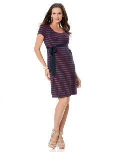A Pea in the Pod Short Sleeve Maternity Dress