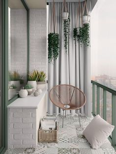 Scandinavian style interior infused with garden green and terrace outd . Scandinavian style interior infused with garden green and terrace outdoor living Apartment Balcony Decorating, Apartment Balconies, Cozy Apartment, Interior Balcony, Bedroom Balcony, Apartment Interior, Condo Balcony, Interior Garden, Apartment Design