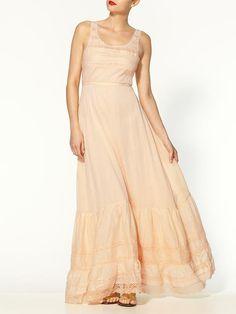 tea colored maxi women's dress