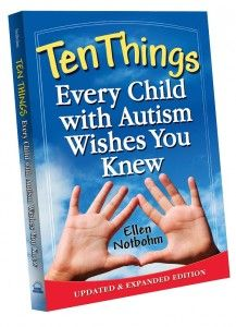 #Win a Copy of Ten Things Every Child with #Autism Wishes You Knew