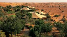 Bedouin-style tented suites at Al Maha, a Luxury Collection Desert Resort & Spa, Dubai.