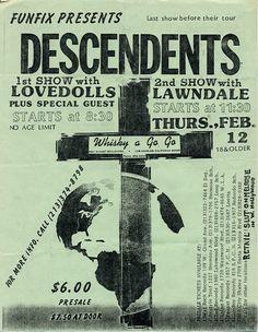 Vintage Descendents Flyer