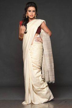 Tussar Silk saree traditional# hand woven # Indian sari www.kasavcollections.com