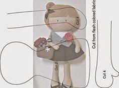 Molde boneca de tecido | ARTE COM QUIANE - Paps,Moldes,E.V.A,Feltro,Costuras,Fofuchas 3D | Bloglovin'