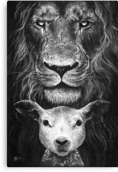 Jesus Wallpaper, Lion Wallpaper, Christian Tattoos, Christian Art, Lamm Tattoo, Lamb Drawing, Lion Of Judah Jesus, Lion And Lamb, Tribe Of Judah