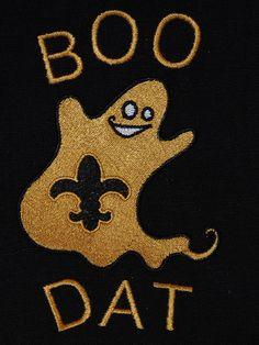 BOO DAT New Orleans Saints tea towel