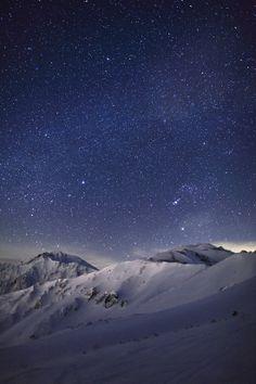 snow landscape stars f nature travel scenery milky way mountain vertical Mountain Range mposts