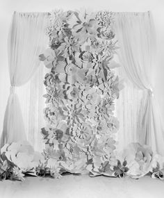Handmade Paper Flower Backdrop, by DeDe Berger at Dream Design Events
