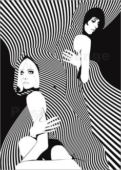 Op Art- Short for optical art, it created visual illusions through largely geometric patterns.
