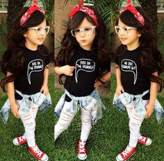 her style! her style! Little Girl Outfits, Kids Outfits Girls, Cute Outfits For Kids, Toddler Girl Outfits, Little Girl Fashion, Kids Girls, Cute Girls, Toddler Girl Style, Cute Kids Fashion
