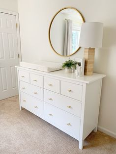 Baby Dresser, Nursery Dresser, Baby Nursery Decor, Baby Bedroom, Baby Boy Rooms, Baby Decor, Nursery Room, Ikea Nursery, White Nursery