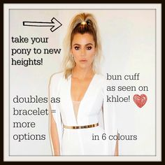 Chic way to hide a bad hair day! Bun cuff = fun way to accessorize plus you can also wear it as a bracelet! My boutique link is in bio or click on photo. #chloeandisabel #jenatkin # khloe #kardashians #hairfun #nomorebadhairdays