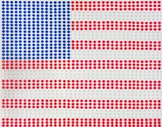 Jut in time for Independence Day: We love this American flag artwork made of birth control pills!