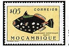 1951 Mozambique Fish stamp