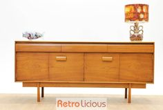 Stunning White & Newton Teak Sideboard with Rolled Drawer Fronts and Bi-Fold doors £375