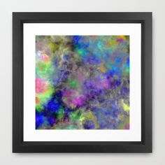 Marbled Clouds Framed Art Print by Christy Leigh - $32.00