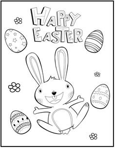 Celebrating Of Easter Day Coloring Picture For Kids