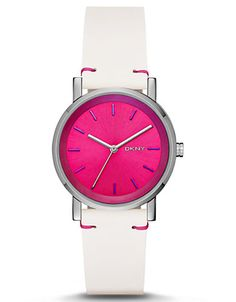 Ladies Soho Watch with Magenta Laser Dial | Lord and Taylor