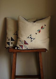 Tribal Pattern Hand Embroidered Pillow Cover