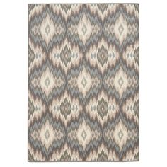 Abstract Ikat Ivory/ Blue Area Rug (7'10 x 10')   Overstock.com Shopping - The Best Deals on 7x9 - 10x14 Rugs