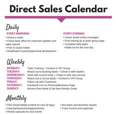 Does this look familiar?! We took the SUPER POPULAR cleaning calendar and creating one FOR YOU for direct sales! My GIFT to YOU for 2018! Print this out and hang it above your work station and follow along!
