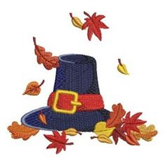 Fall Greetings embroidery design from embroiderydesigns.com
