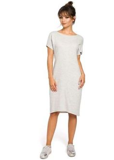 Comfortable thanks to its relaxed fit and in-seam front pockets , this tailored, ribbed knit dress is bound to be one of your favorite for every day. Day Dresses, Dresses For Work, Wedding Dress With Pockets, Dress Pockets, Sports Skirts, Ribbed Knit Dress, Swim Dress, White Dress, Short Sleeve Dresses