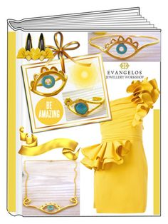 """""""Evangelos Jewellery"""" by kiveric-damira ❤ liked on Polyvore featuring Dsquared2, ring, bracelet, necklace and earrings"""