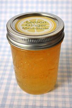 really easy lemon ginger marmalade