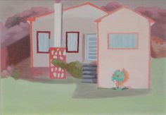 Saskia Leek Home Icon, Landscape Paintings, New Zealand, 2d, Buildings, Houses, Icons, Homes, Symbols