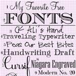 My Favorite Free Fonts--Vol 1
