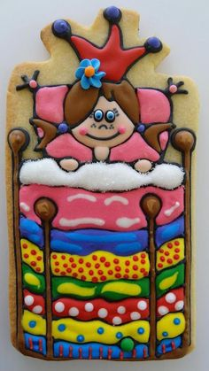 princess and the pea - perfect cookie for my party Cookies For Kids, Fancy Cookies, Iced Cookies, Cute Cookies, Sugar Cookies, Princess Cookies, Once Upon A Time, Sugar Cookie Royal Icing, Galletas Cookies